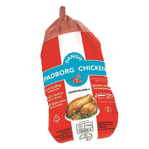 Hel kylling m. skind og ben u. indmad ca. 1.700 gr.